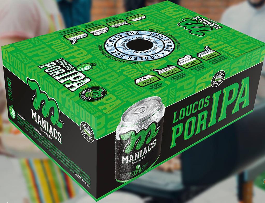 A caixa permite não apenas transportar as latas da marca com facilidade, mas também refrigerá-las (Foto: Divulgação)