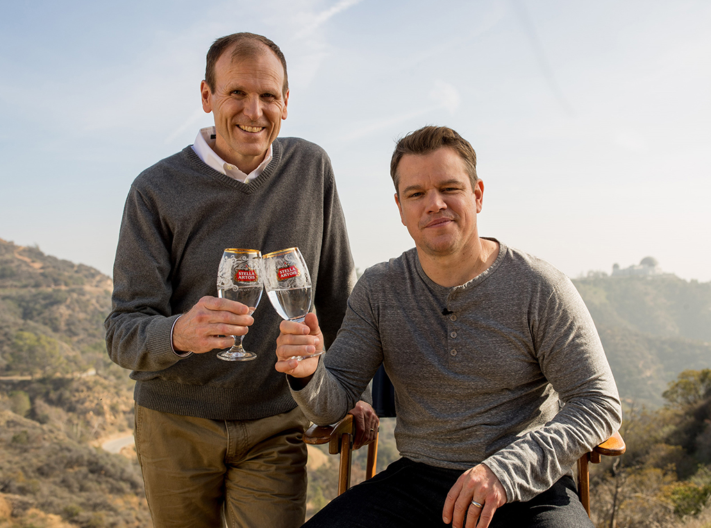 Gary White e Matt Damon, fundadores da Water.org, que busca fornecer água potável para o mundo em desenvolvimento (Foto: Divulgação)