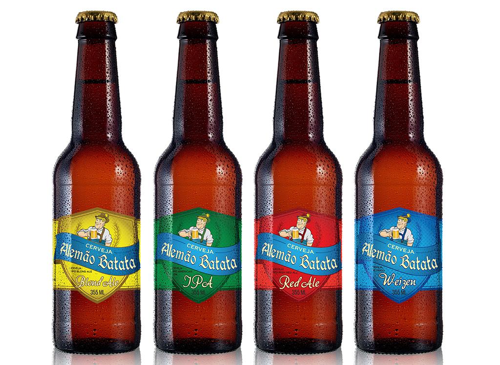 A Cerveja Alemão Batata ganhou mais quatro estilos: Blonde Ale, IPA, Red Ale e Weizen (Foto: Divulgação)