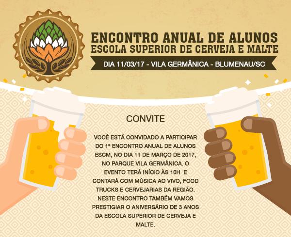 Trecho do convite para o Encontro Anual da Escola Superior de Cerveja e Malte (Foto: Divulgação)