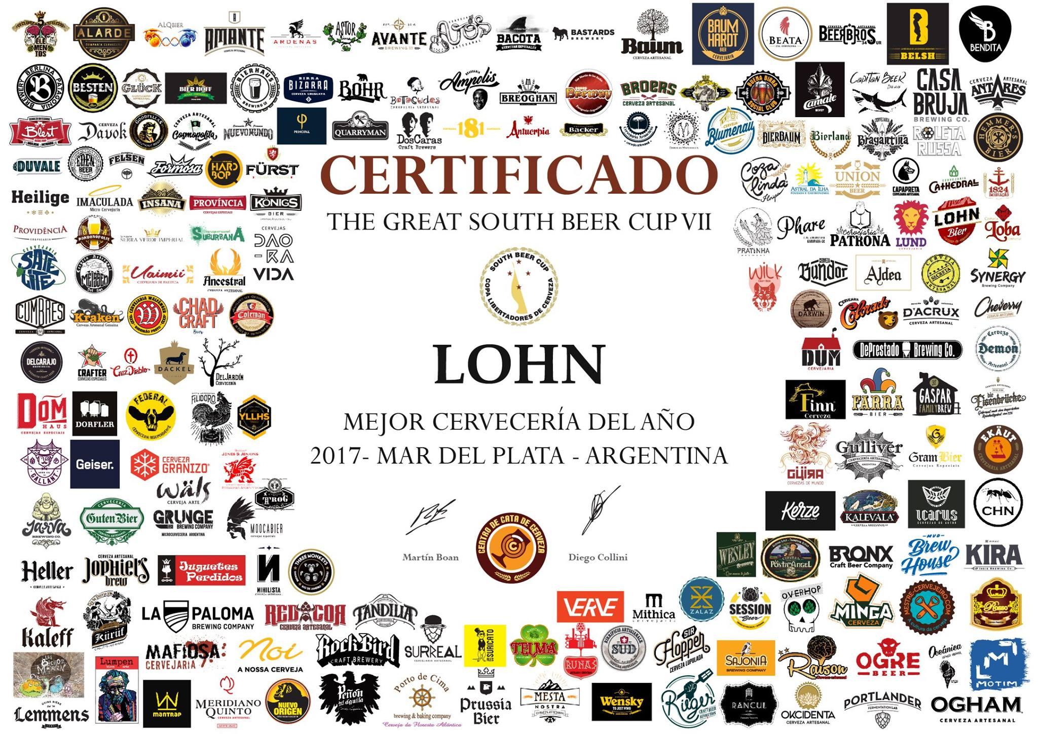 Entre três dezenas de cervejarias brasileiras premiadas, o destaque maior ficou com a Lohn Bier, a Cervejaria do Ano (Foto: Divulgação)