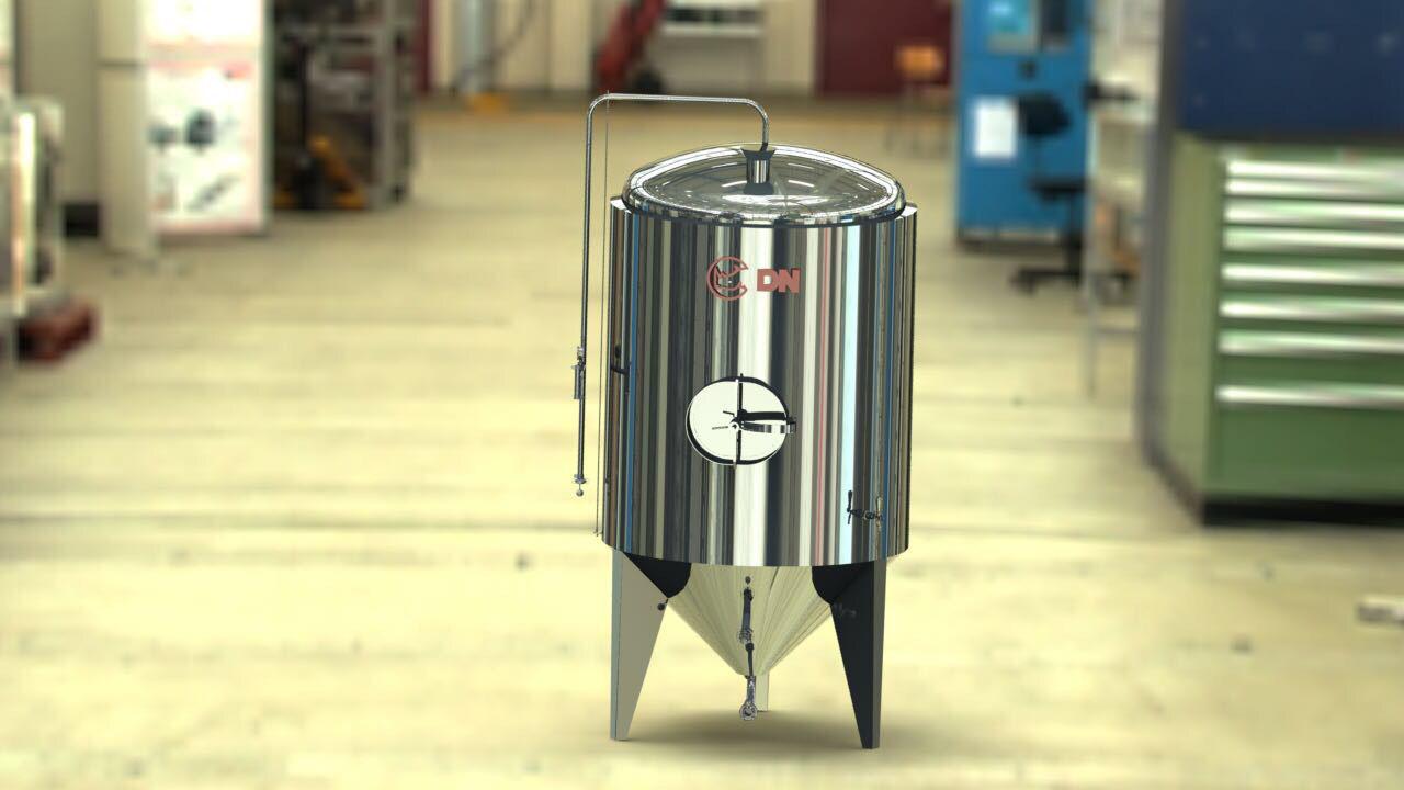 Fermentador é fabricado pela DN Industrial, patrocinadora do I Concurso Liberdade Beer Fest de Cerveja Caseira (Foto: Divulgação)