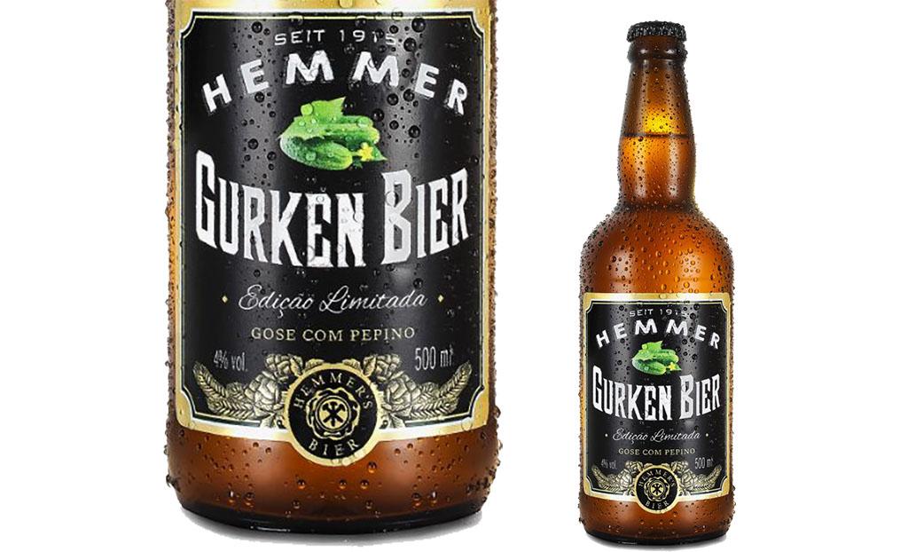 A Gurken Bier é uma Gose, peculiar estilo alemão, com adição de pepino (Foto: Divulgação)