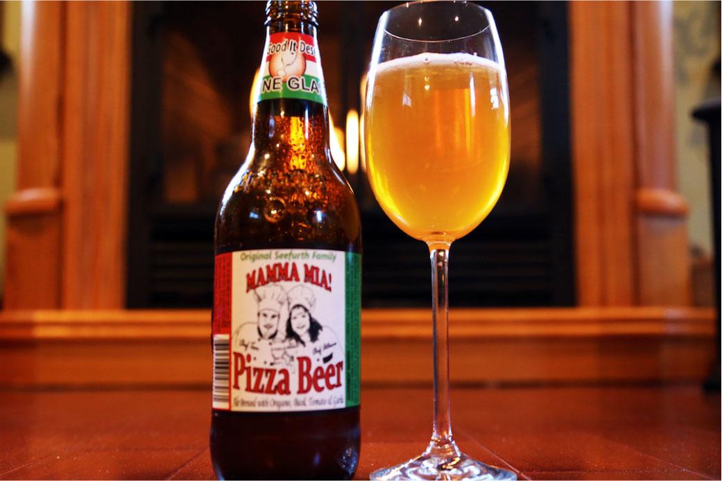 Uma cerveja 2 em 1: a Mamma Mia! Pizza Beer (Foto: Divulgação)