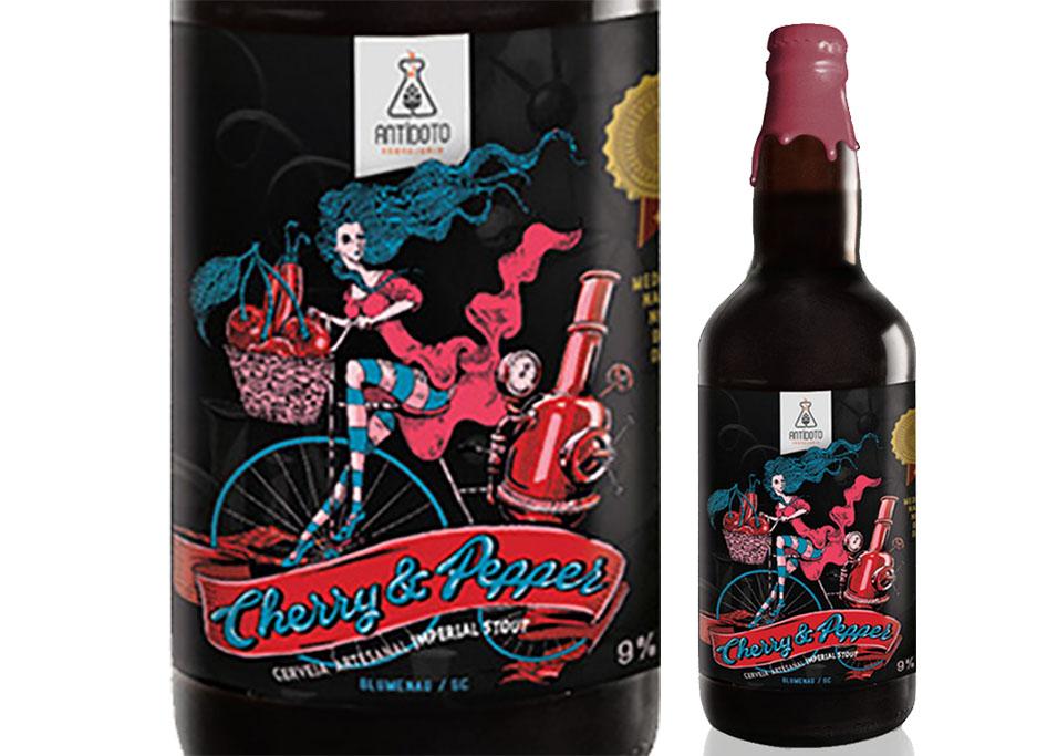 A Stout Cherry&Pepper, da Antídoto, conquistou ouro no Concurso Brasileiro de Cervejas 2017 (Foto: Divulgação)