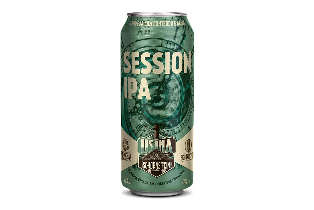 Session IPA foi o primeiro lançamento da incubadora mantida pela cervejaria e pela escola (Foto: Divulgação)