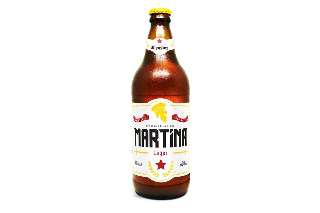A empresa exporta a premium **Martina Lager** e negocia o envio também da Martina Witbier e da Martina IPA (Foto: Divulgação)