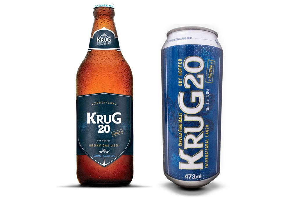 As duas opções de embalagem em que é oferecida a Krug 20 (Fotos: Divulgação)