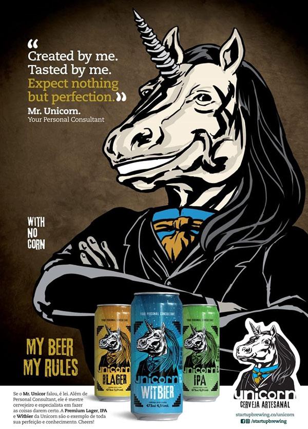 Peça gráfica mostra a identidade visual da Unicorn (Foto: Divulgação)