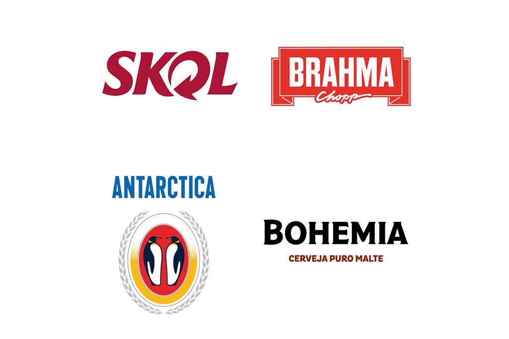 As quatro marcas são as únicas do segmento da cerveja presentes no ranking das Top 25 (Fotos: Divulgação)