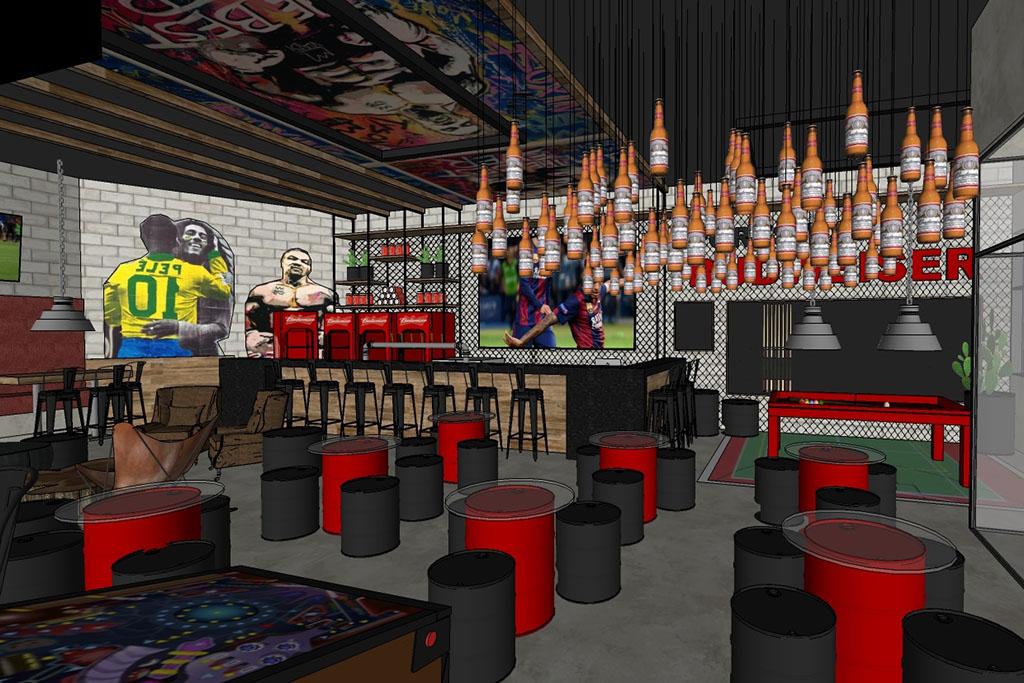 Bar vai oferecer todas as opções gastronômicas da Vila Yamon (Foto: Divulgação)