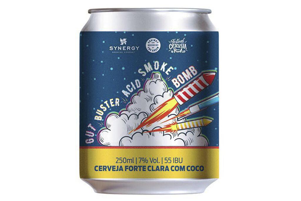 A Gut Buster Acid Smoke Bomb é resultado de uma visita do cervejeiro Jerry Gnagy, da Against The Grain, ao Brasil durante o Festival da Cerveja POA (Foto: Divulgação)