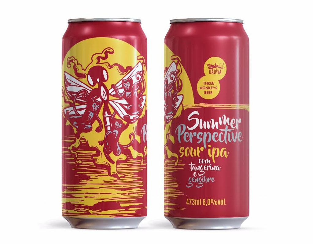 No estilo Sour IPA, a cerveja foi produzida para comemorar os cinco anos da carioca Three Monkeys (Foto: Divulgação)