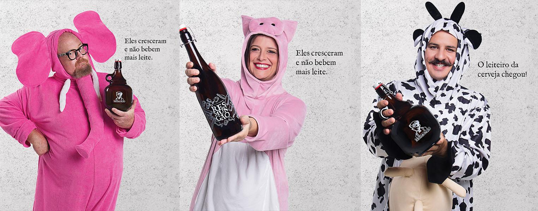 Personalidades cervejeiras estrelam a campanha do clube fundado em Porto Alegre (Foto: Divulgação)
