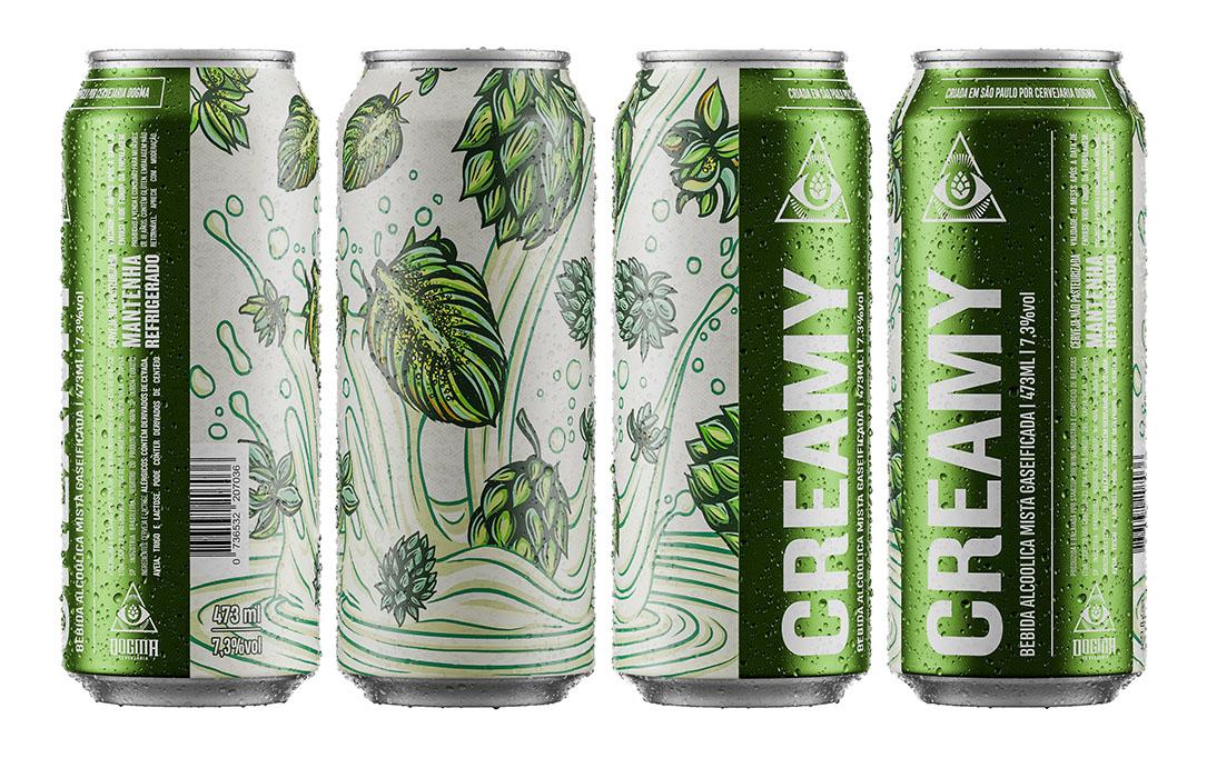 Com teor alcoólico de 7,3%, a Creamy será vendida em lata de 473ml (Foto: Divulgação)