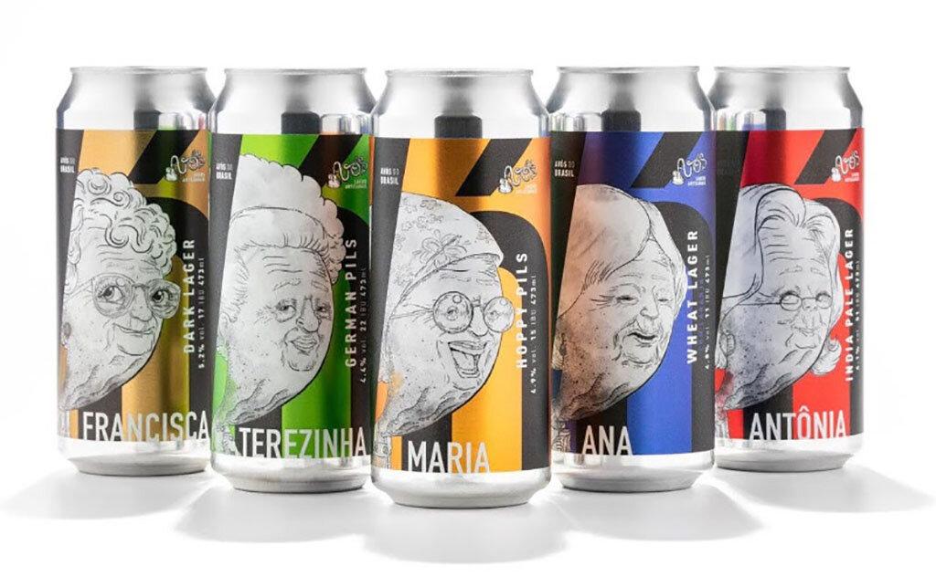 As cinco cervejas são oferecidas em formato lata de 473ml (Foto: Divulgação)