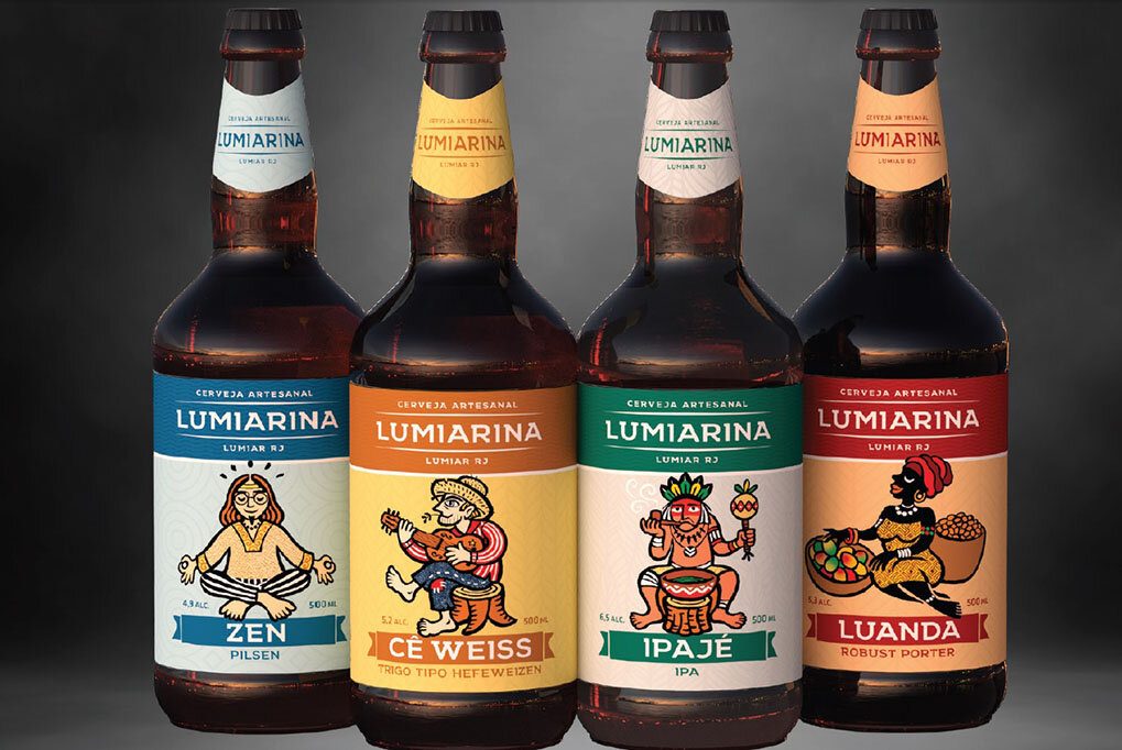 As primeiras integrantes da linha da cervejaria (Foto: Divulgação)