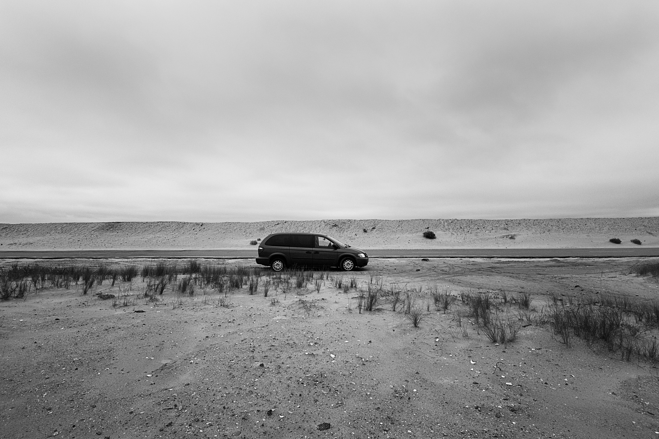 Almost got Rosy stuck in the sand. She's not the speediest or most powerful thing on the road.