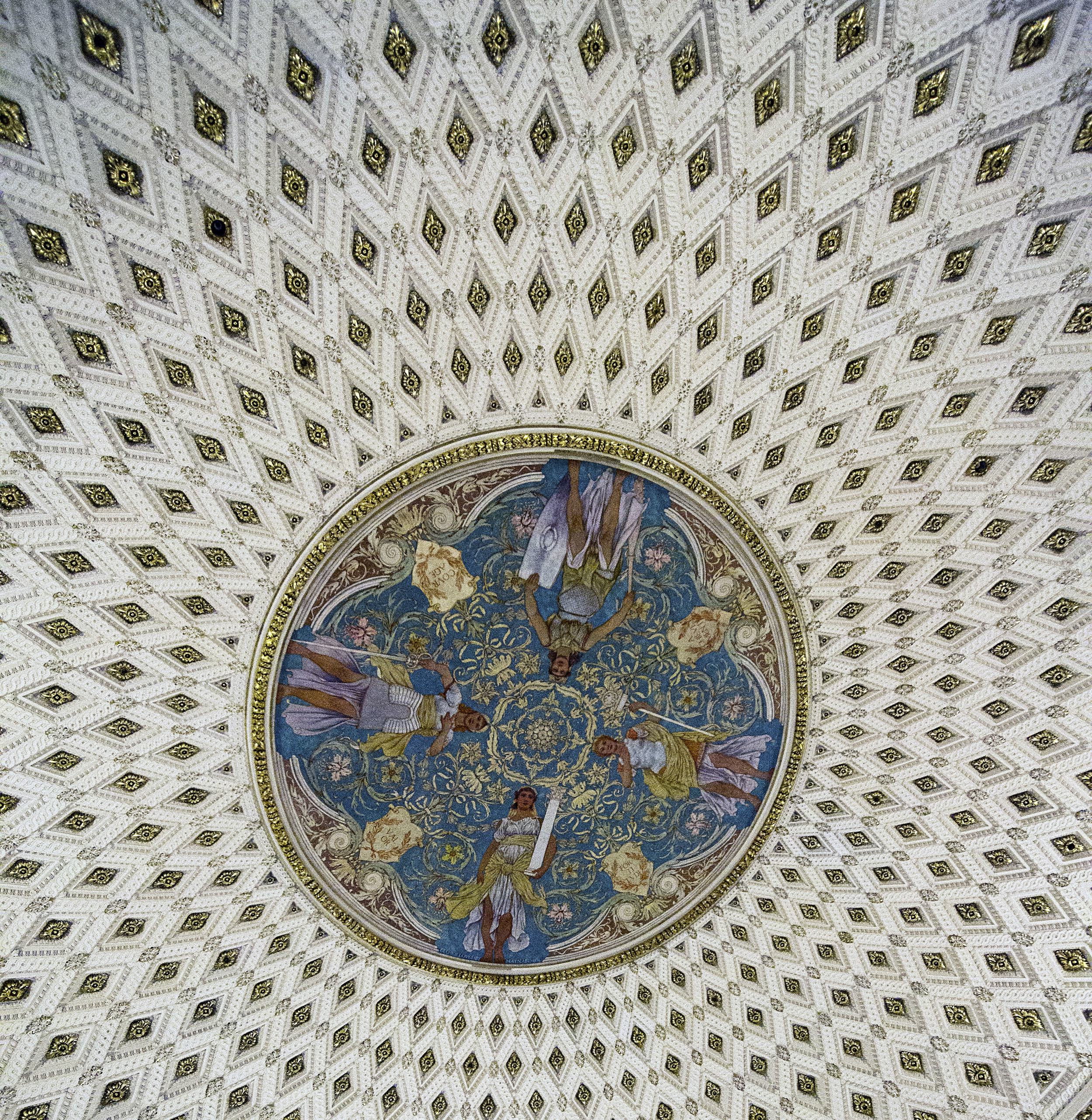The ceiling of the main hall, which is awesome.
