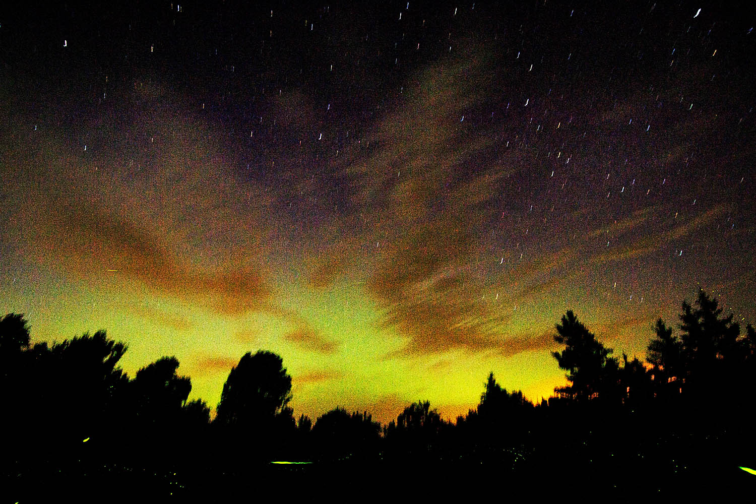 The Northern Lights? Unclear. But it is the view from my mailbox.