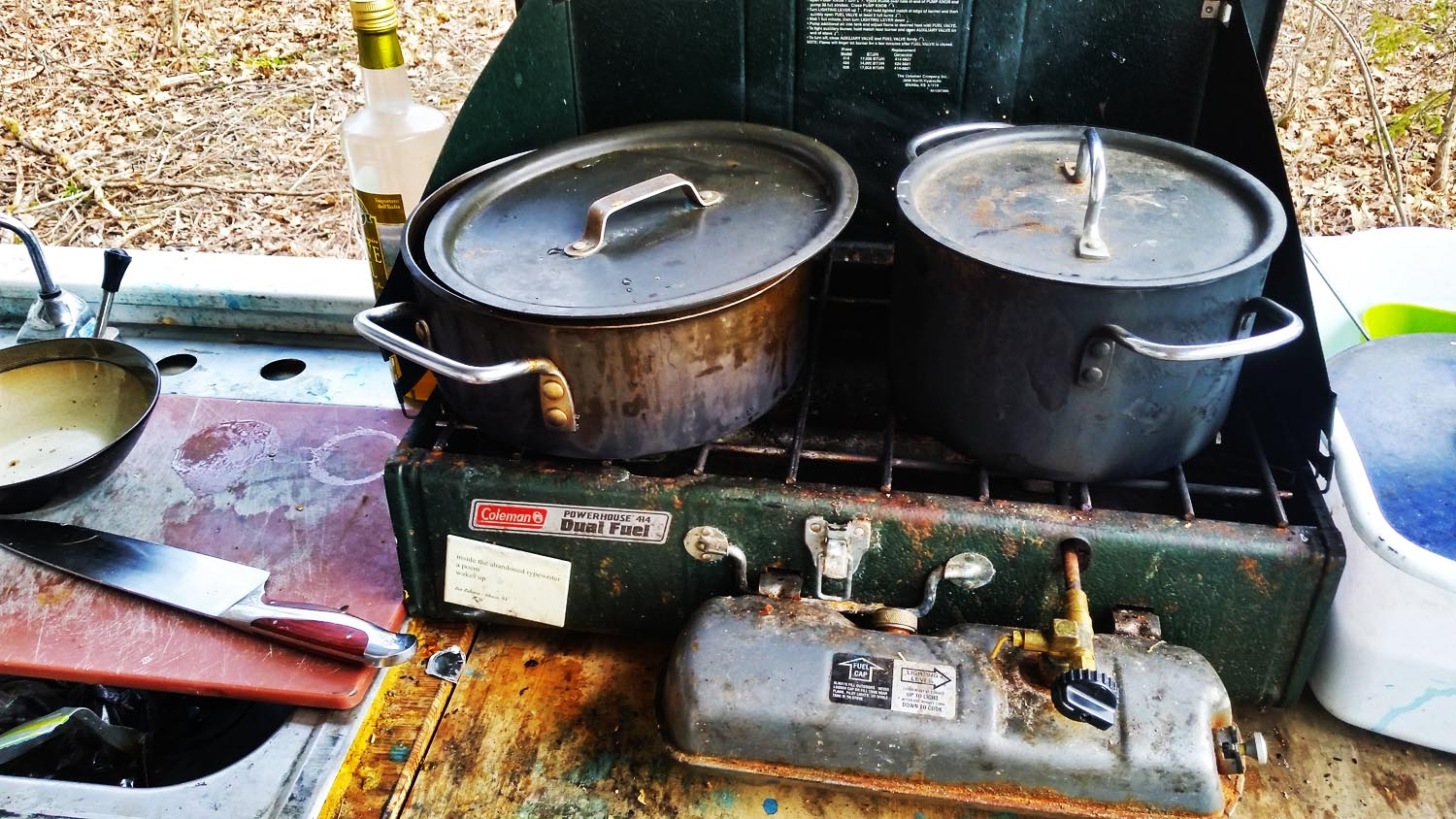 I've taken this stove everywhere. And left it sitting outside in the elements, way too often.