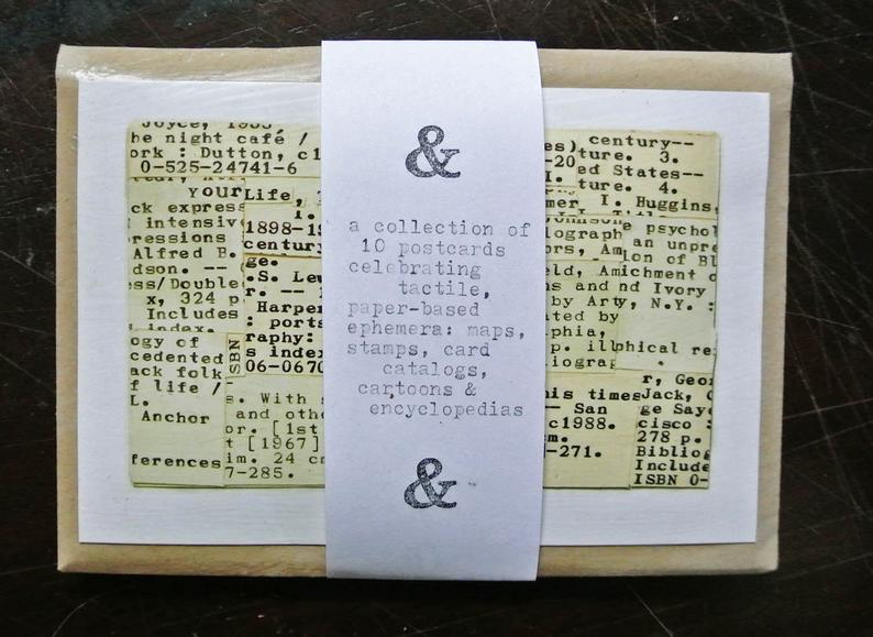 Literary postcards
