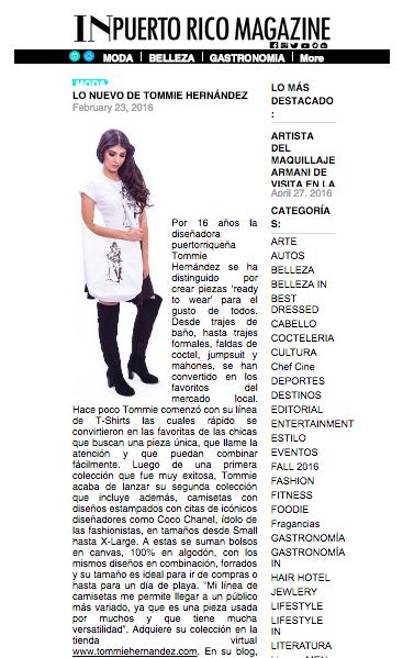 INPuerto Rico Magazine 2/ 23 / 16