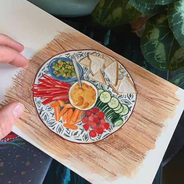 Drawing food to get out of a creative block