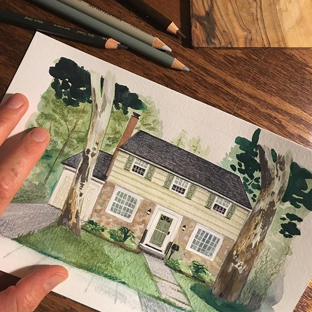 Always love slowing my pace with house portraits