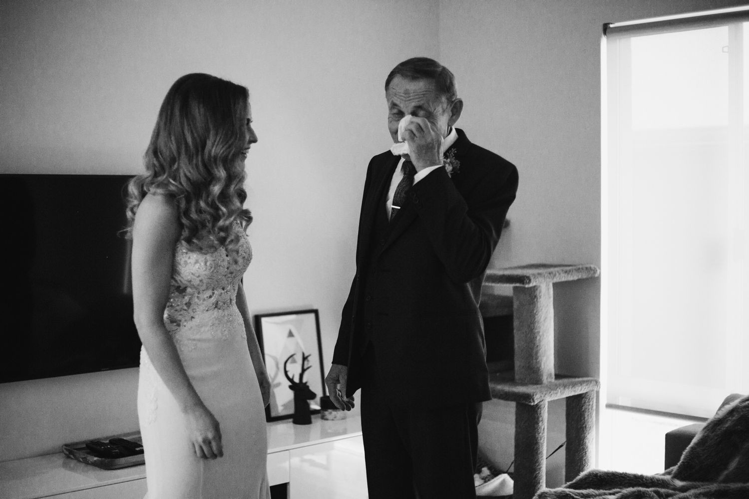 father sees daughter as bride