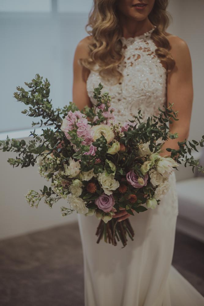 australian spring native wedding bouquet