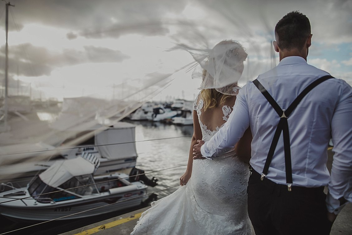 boat harbour wedding day