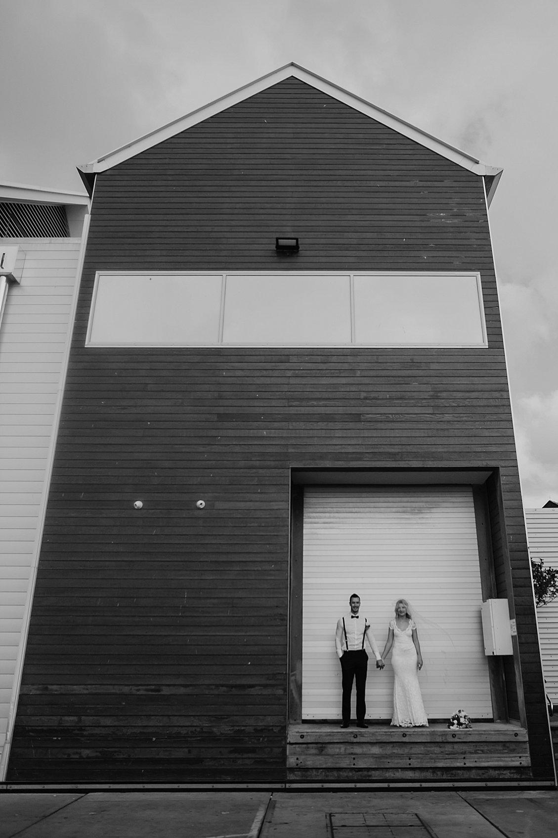 architectural wedding portrait