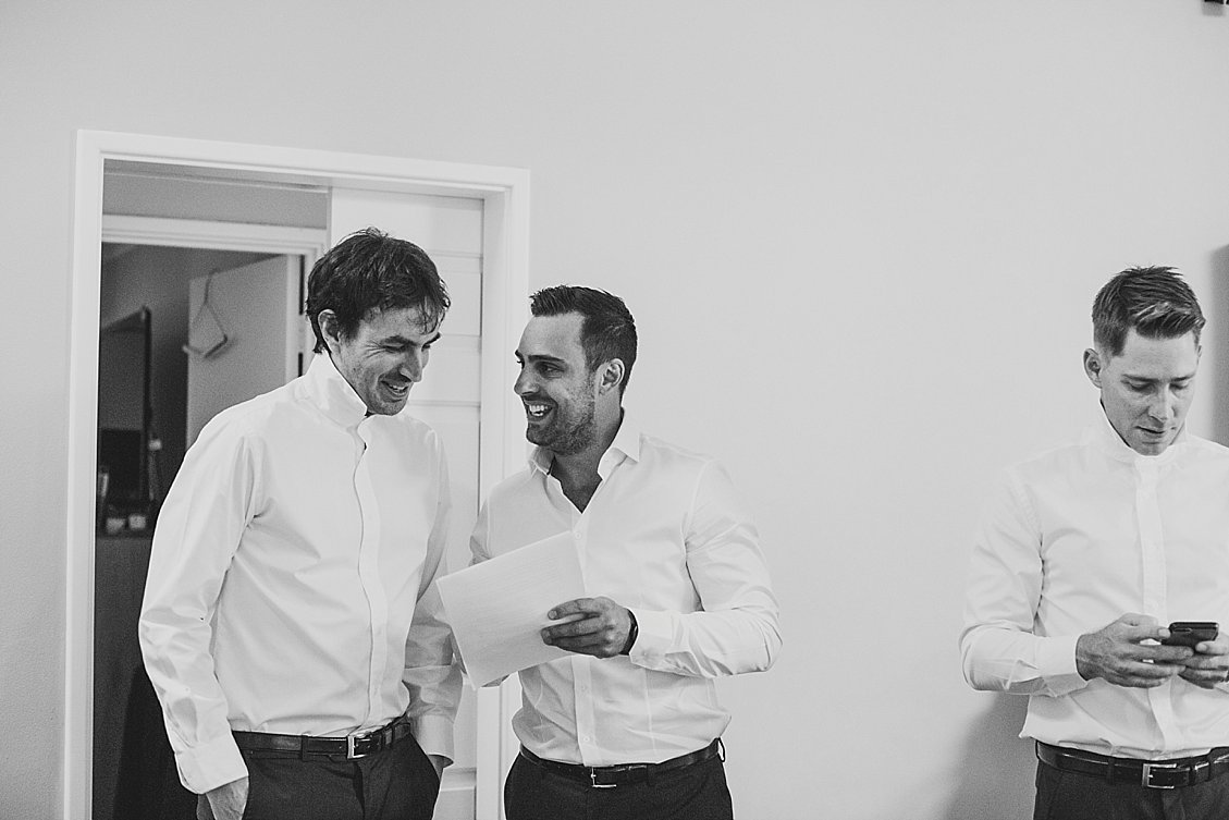groom prep wedding