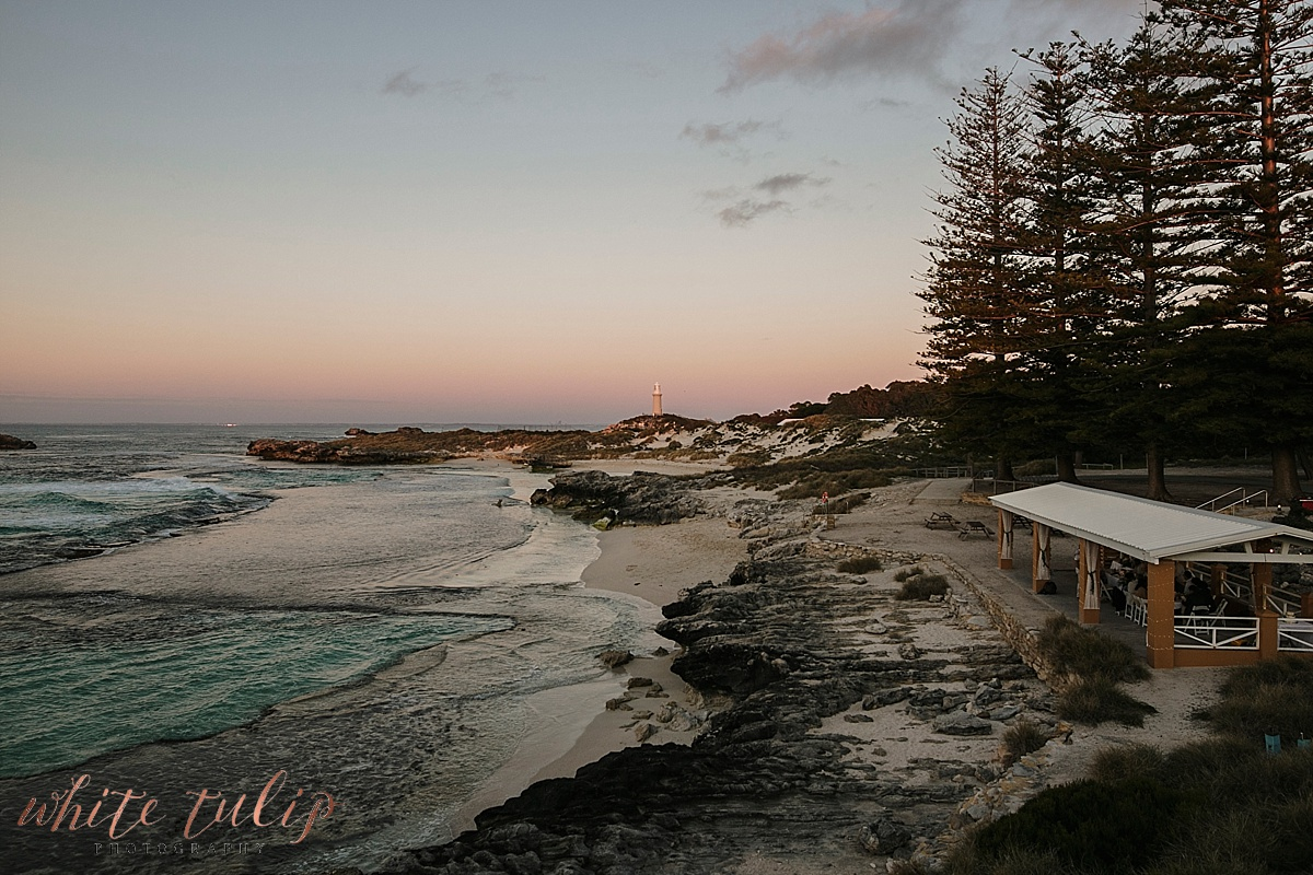 sunset at the basin rottnest