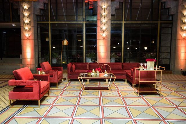 Sectional seating for champagne wishes and caviar dreams.  Photographer: @rachaelkoscicaphoto Venue: @arizonabiltmore @arizonabiltmoreweddings Lounge Furniture: @primrentals Floral:  @wildchildfloral Uplighting:  @psavglobal ⠀⠀⠀⠀⠀⠀⠀⠀⠀
