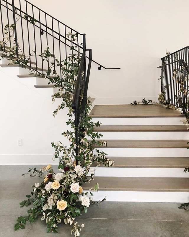Floral staircases have more fun.