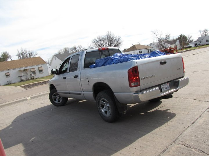 My truck all packed up & ready to go.