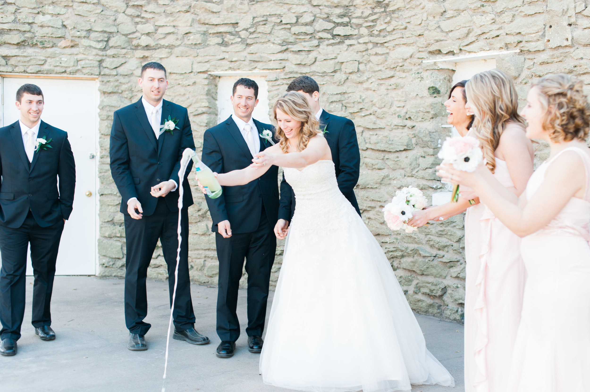 wedding party celebrating in Omaha