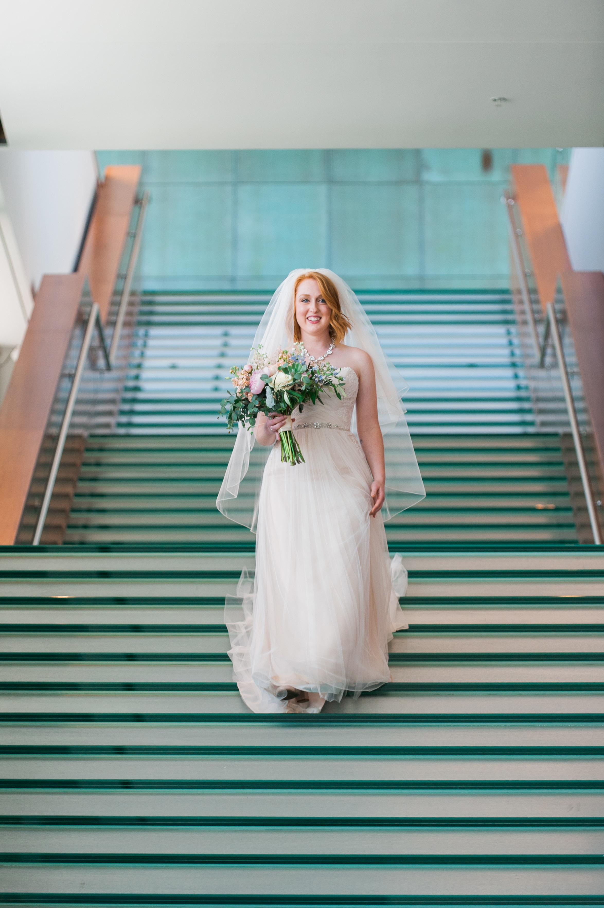 bride at holland performing arts center omaha