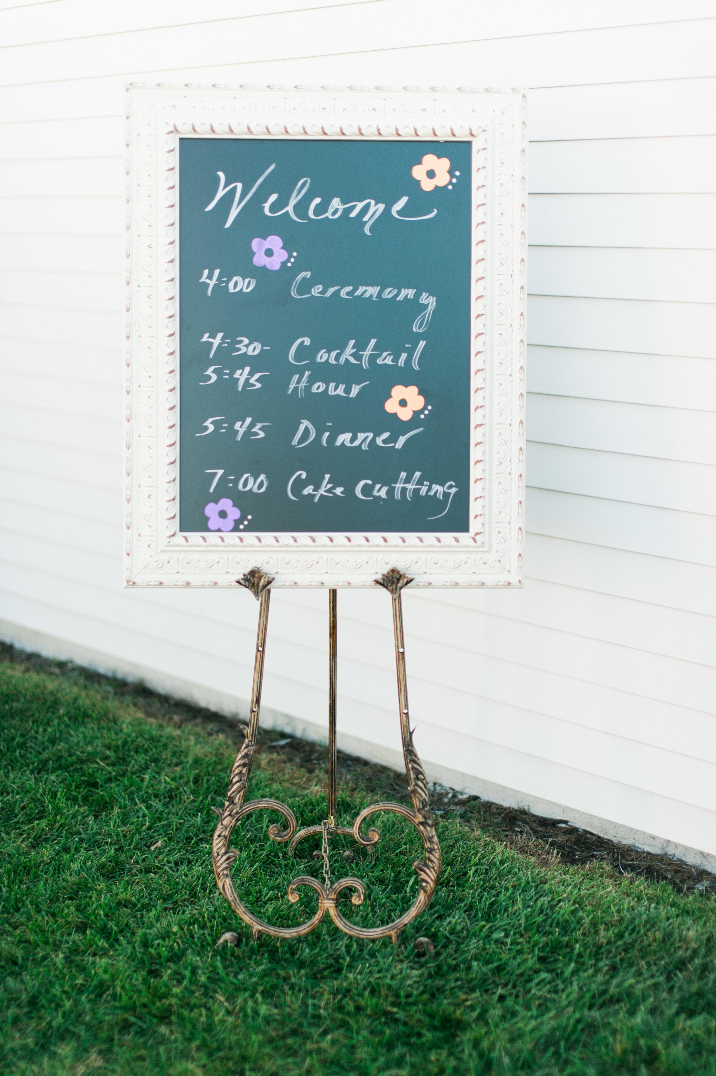 Omaha ceremony board, a cute detail for an Omaha wedding