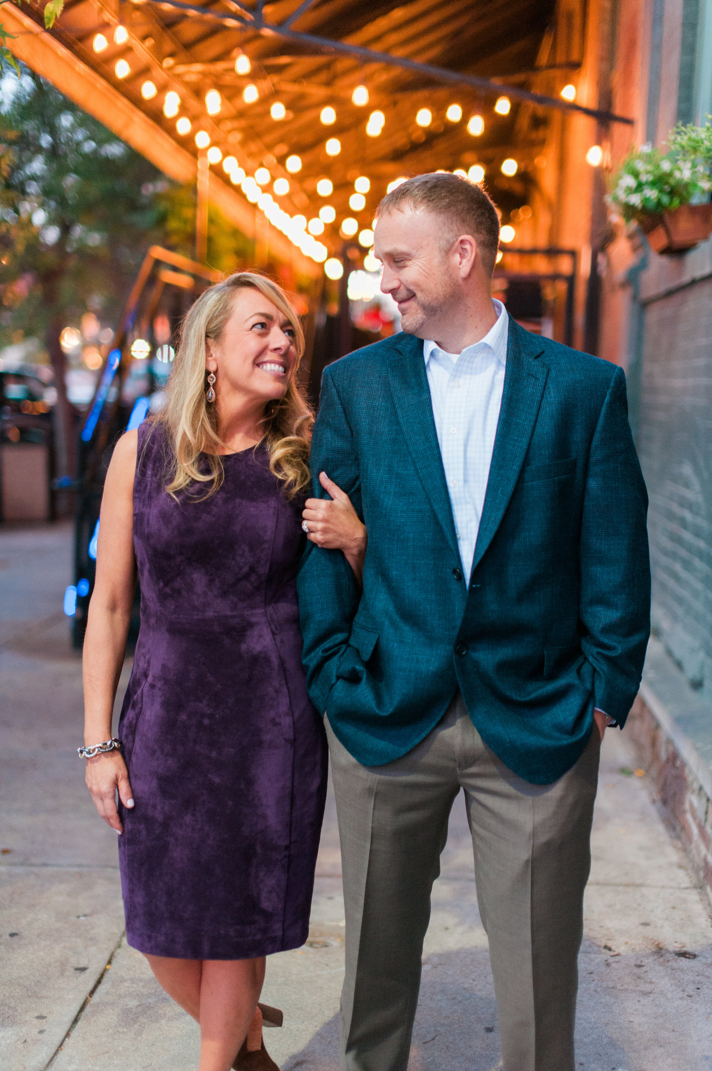 Engagement Session in the Old Market in Omaha