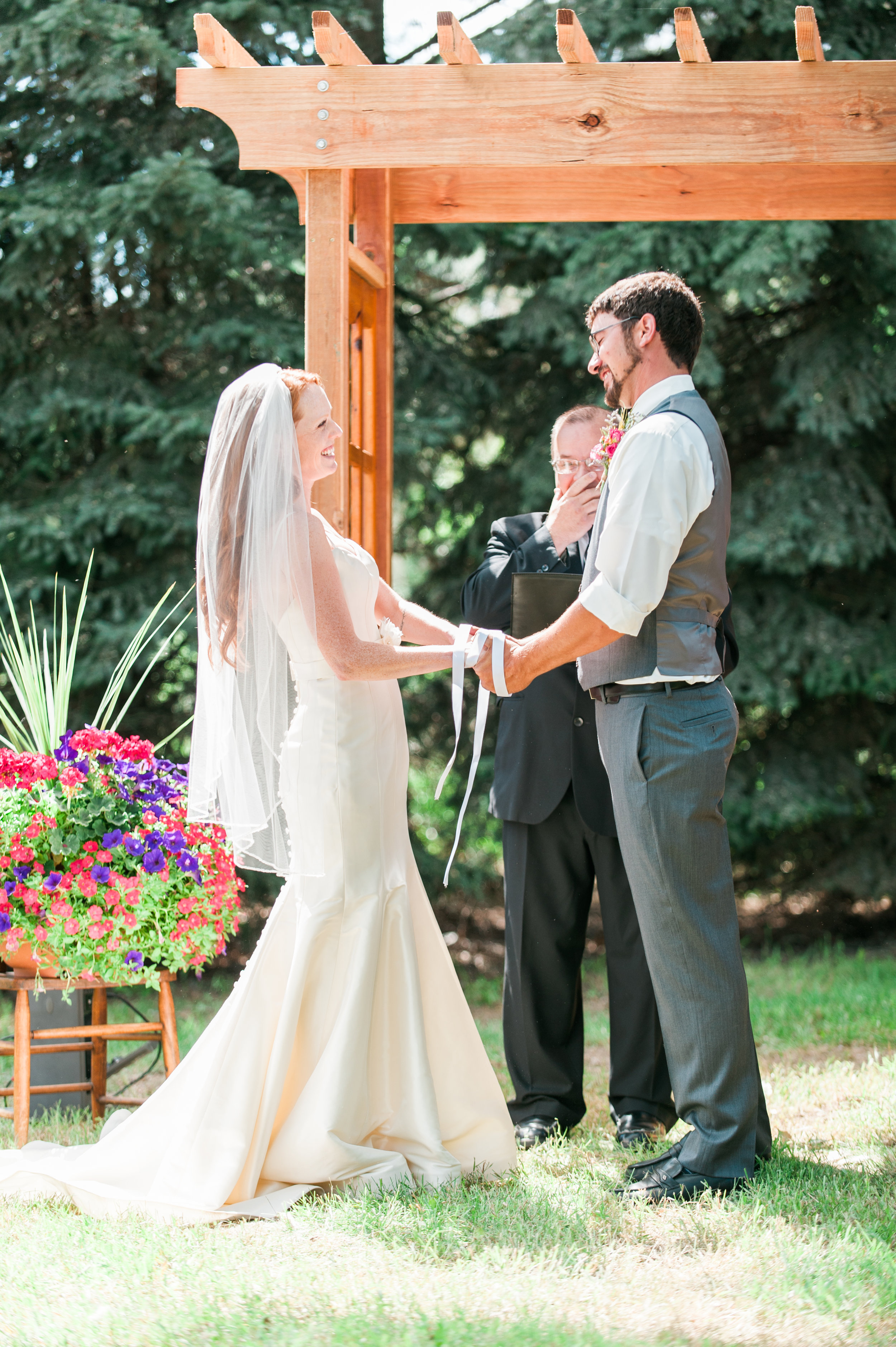 THE HANDFASTING STEMS FROM THE OLD PEGAN RELIGIONS. THE TYING OF THE HANDS SHOWS HOW COMMITTED THE COUPLE IS TOGETHER.