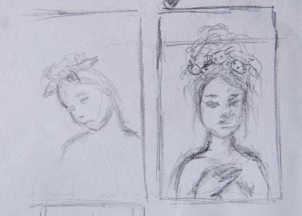 Rough thumbnail concept sketches