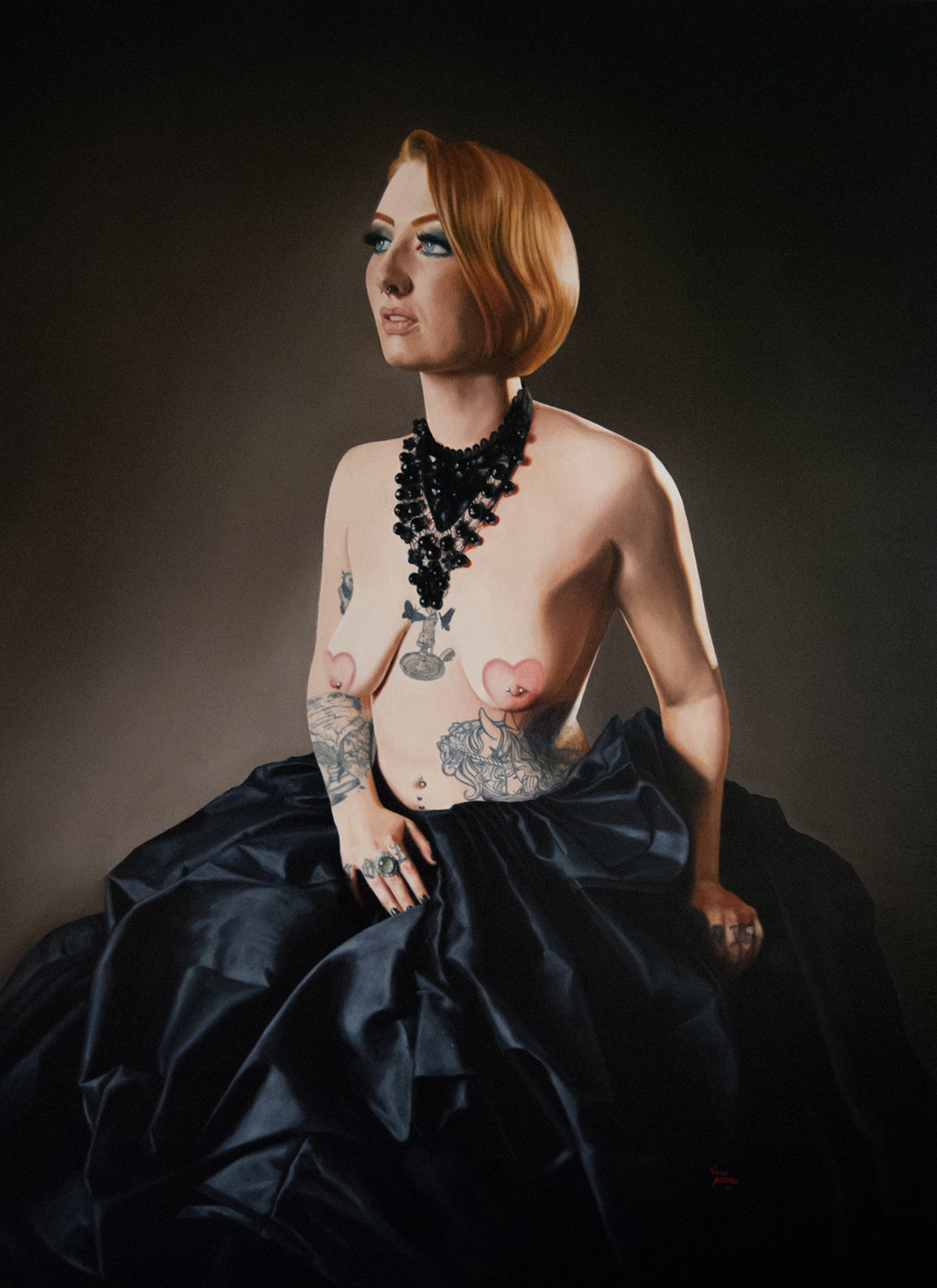 Stacie  by Vivien Masters, oil on linen, 914x1219mm, 2014