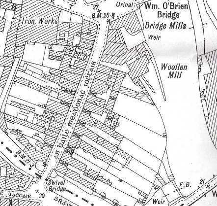 EXTRACT OF GALWAY CITY MAP 1872