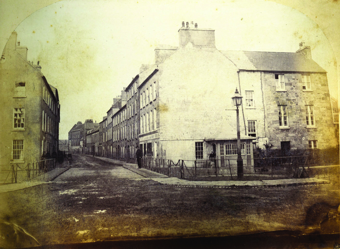 PHOTO c 1865 (GALWAY ADVERTISER)  NO.31 IS ON THE LEFT OF THE PICTURE JUST OUT OF SHOT, IT IS THE SECOND BUILDING UP.