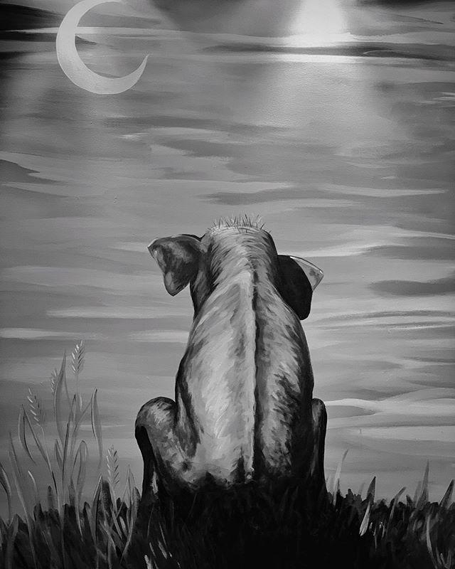 God helg! Fra elefanten på Kab3 på Riksen 🐘 #elefant #godhelg #rikshospitalet #kab3 #blackandwhite #wallpainting