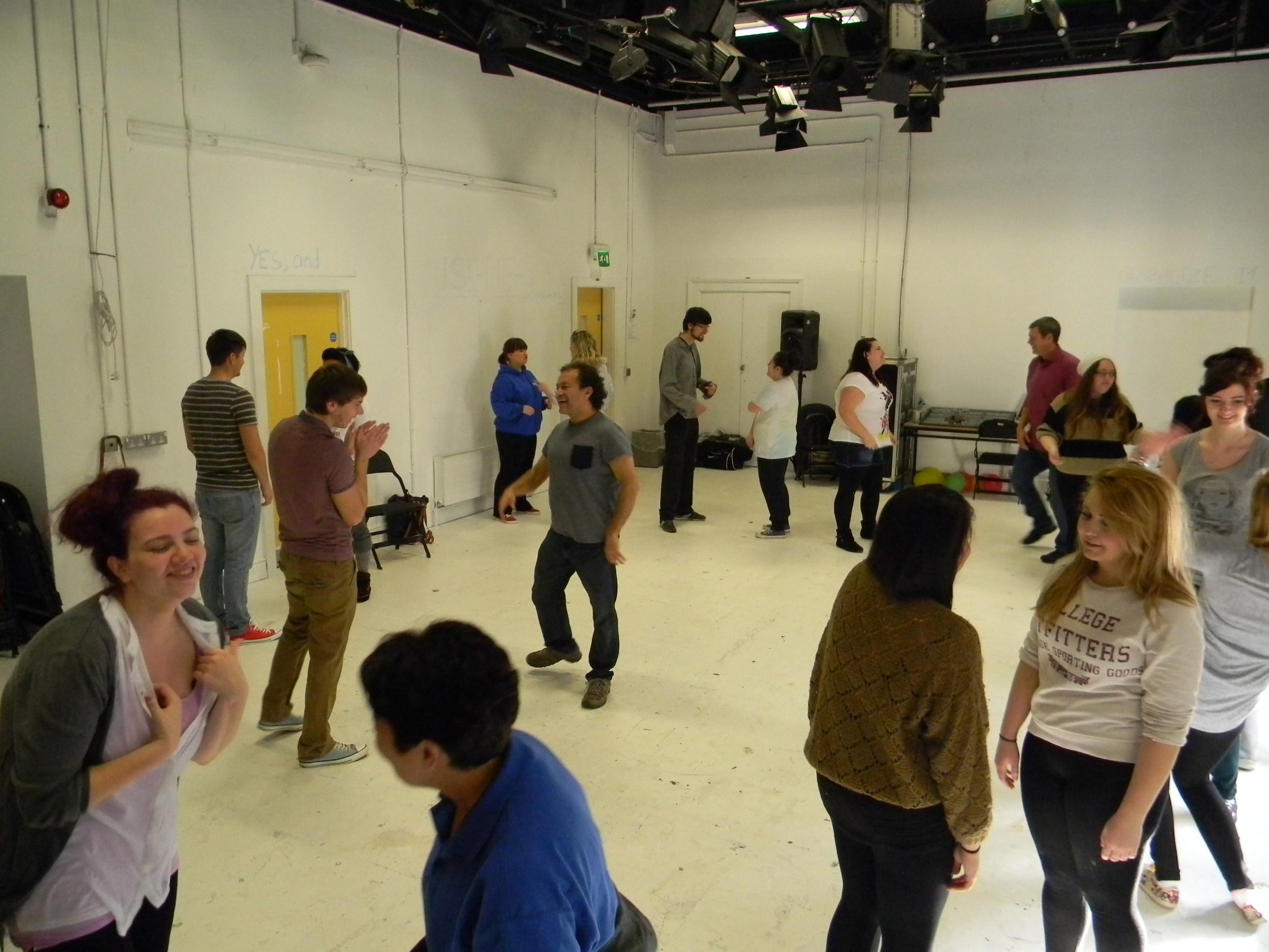 Forum Theatre workshop, University of Ulster.