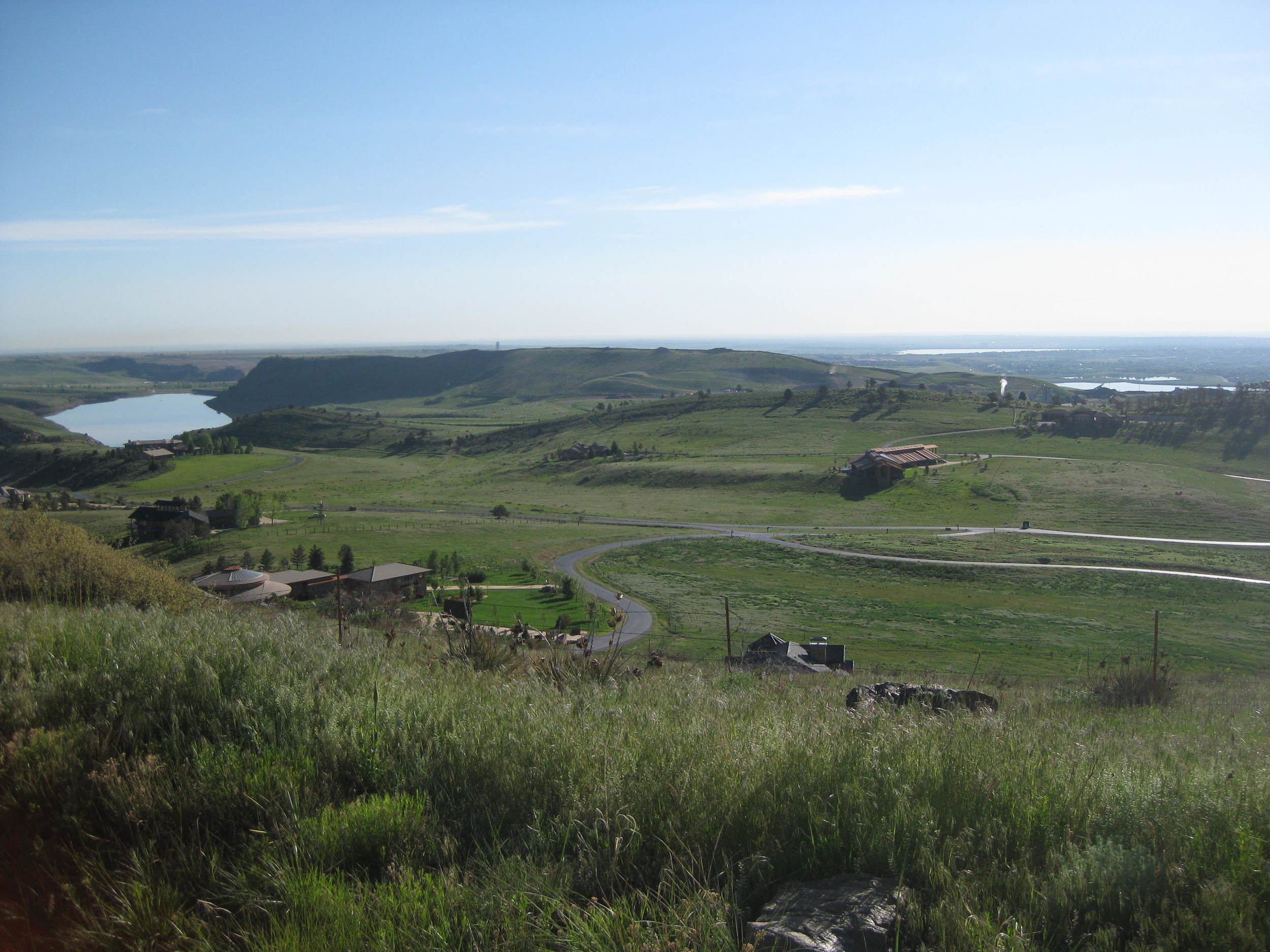"""TAKEN ON THE CLIMB AT WHITE RANCH. """"From up here, those people look like ants. Ants next to enormous houses."""""""